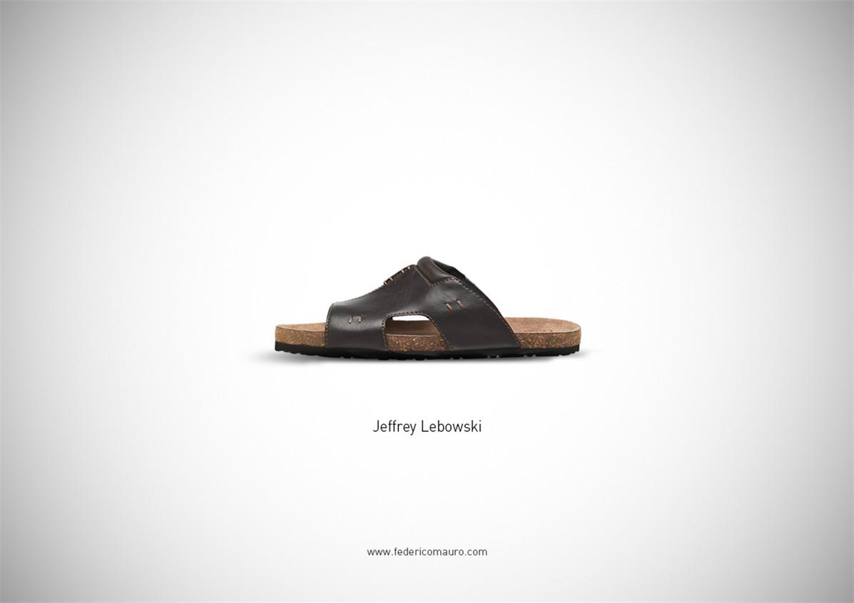 Знаменитая обувь культовых персонажей / Famous Shoes by Federico Mauro - Jeffrey Lebowski