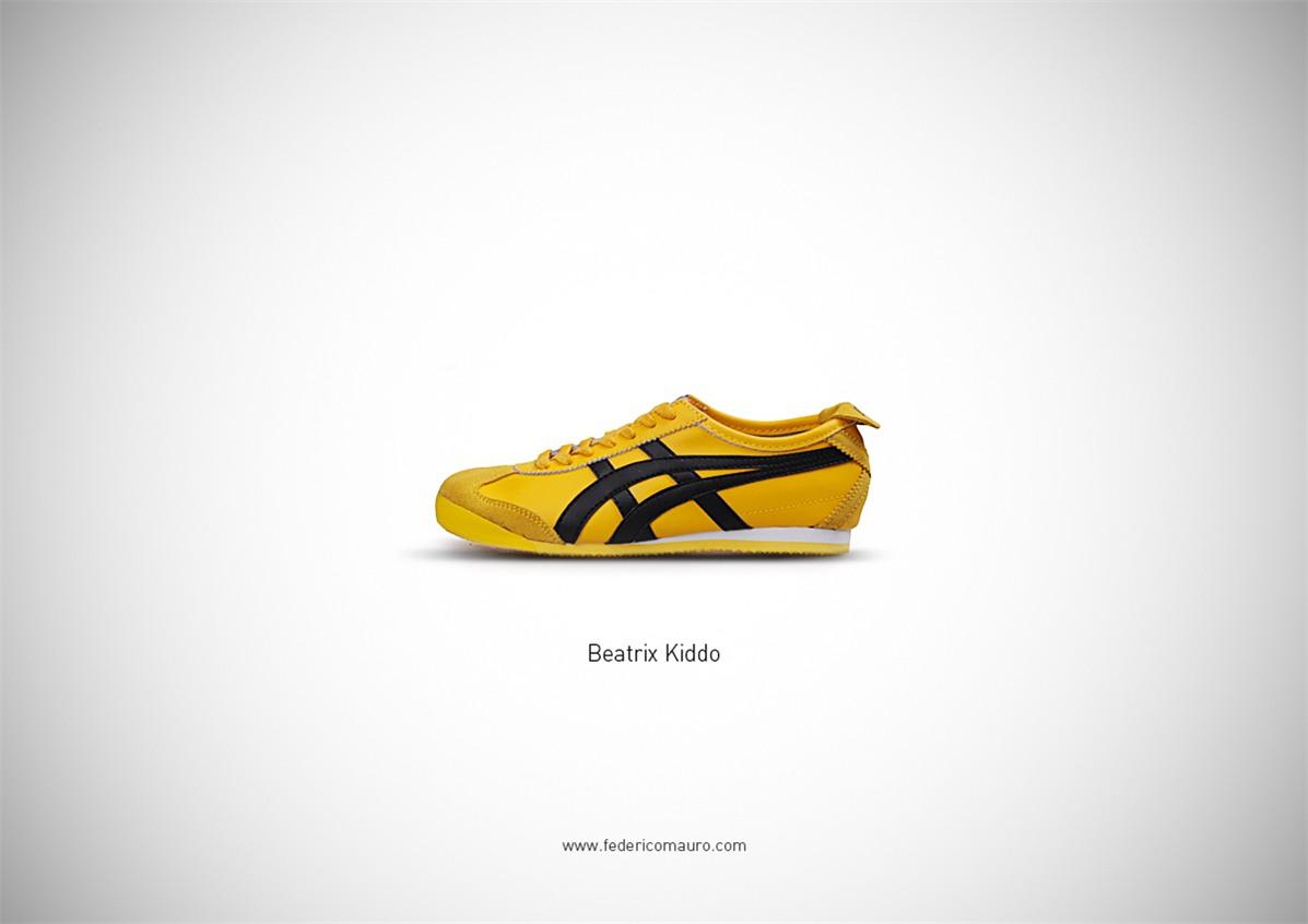 Знаменитая обувь культовых персонажей / Famous Shoes by Federico Mauro - Beatrix Kiddo