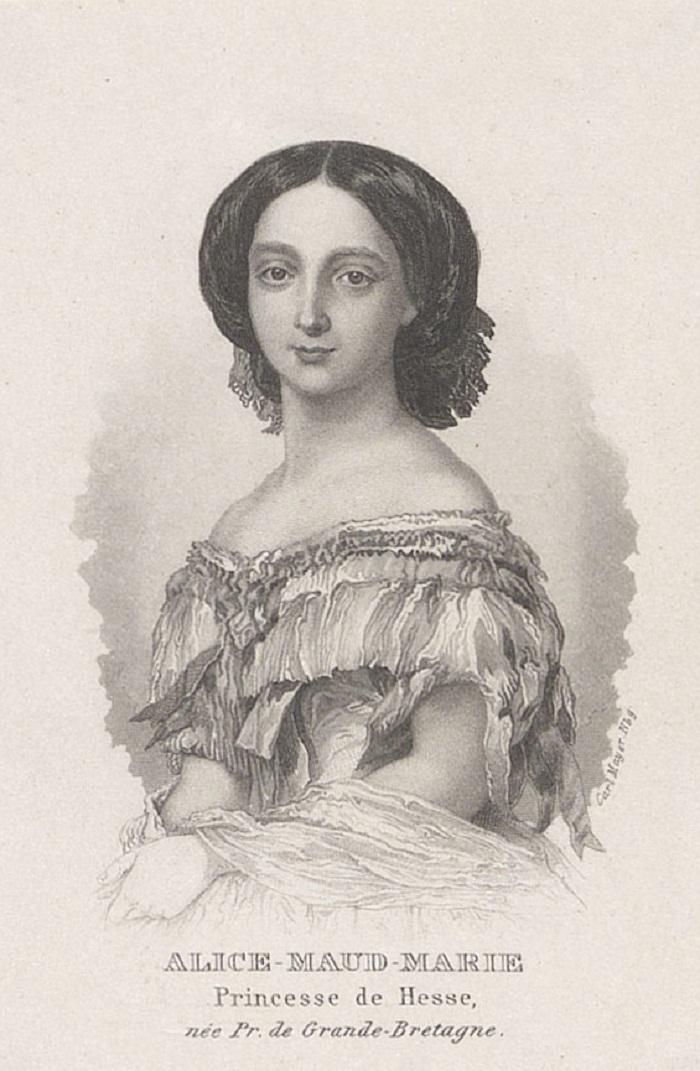 Royal CollectionМайер, Карл (1798-1868) Алиса Мод Мэри (Принцесса, Великая Княгиня Гессен и Рейн К, консорт Людвига IV, дочь королевы Виктории)