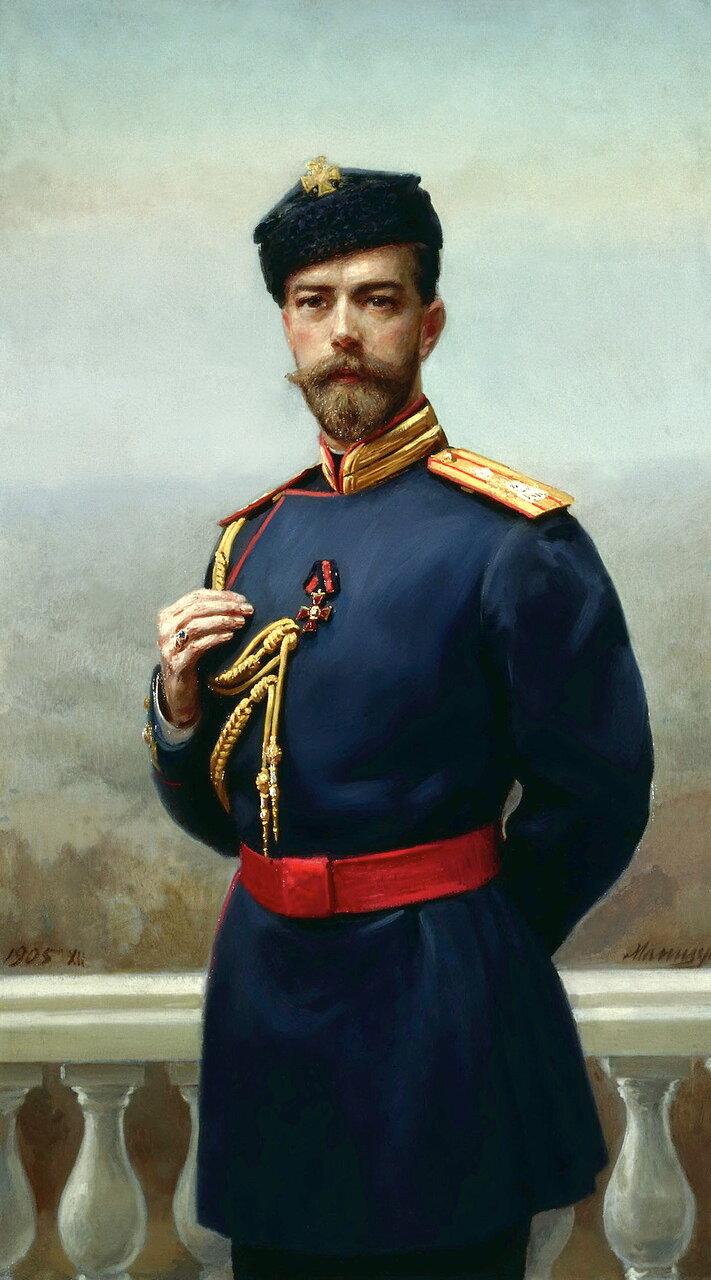 Генрих Матвеевич Манизер (1847-1925). Император Николай II с орденом святого Владимира, 1905