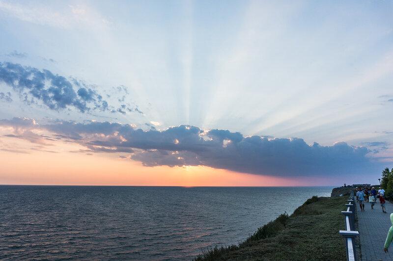 Закат в Анапе