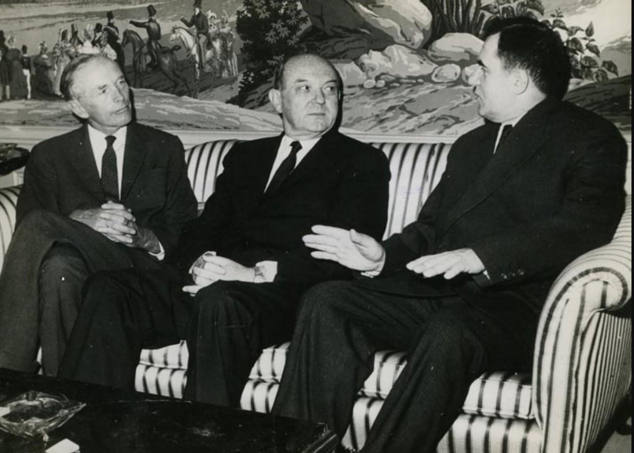 1963. Премьер-министр сэр Александр Дуглас-Хьюм, госсекретарь Дин Раск и министр иностранных дел Андрей Громыко в Нью-Йорке