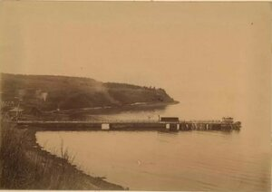 1895. Корсаковская тюремная пристань.