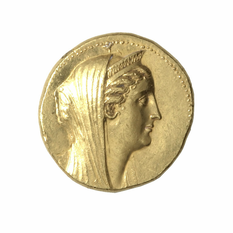 Greco-Egyptian, probably minted in Alexandria, Egypt Octadrachm (Coin) Portraying Queen Arsinoë II, after 270 B.C., issued by King Ptolemy II or III