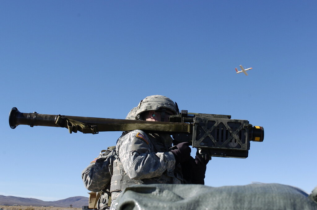10 Dec 2008, India Btry, 1 Sqdrn, 11ACR, NTC Fort Irwin Calif. Fire Stinger Missile at UAV. (Photo by SGT David Alvarado,PAO.)