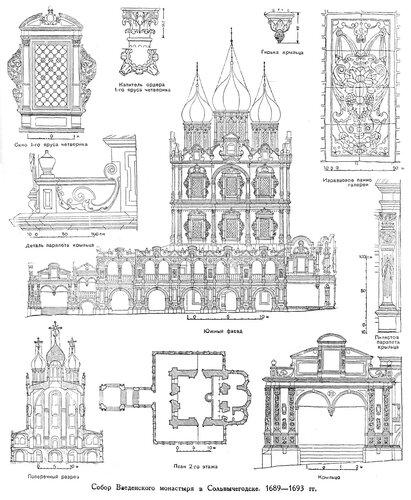 Собор Введенского монастыря в Сольвычегодске, чертижи