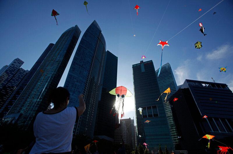 Фестиваль воздушных змеев в Сингапуре