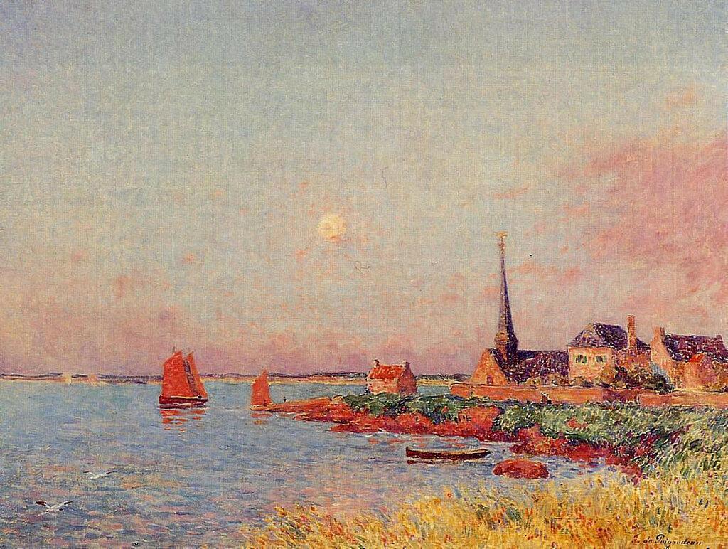 Ferdinand du Puigaudeau - Breton Village by the Sea, 1900.jpeg