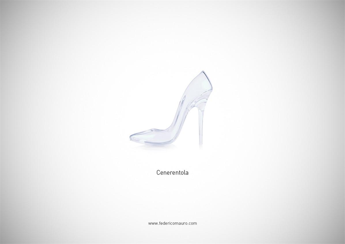 Знаменитая обувь культовых персонажей / Famous Shoes by Federico Mauro - Cinderella