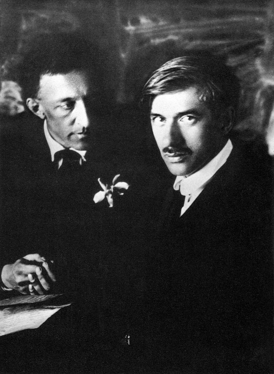 А. А. Блок и К. И. Чуковский. 1921 год