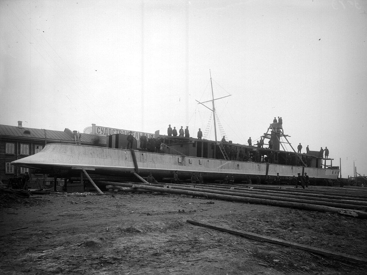 Строительство канонерской лодки