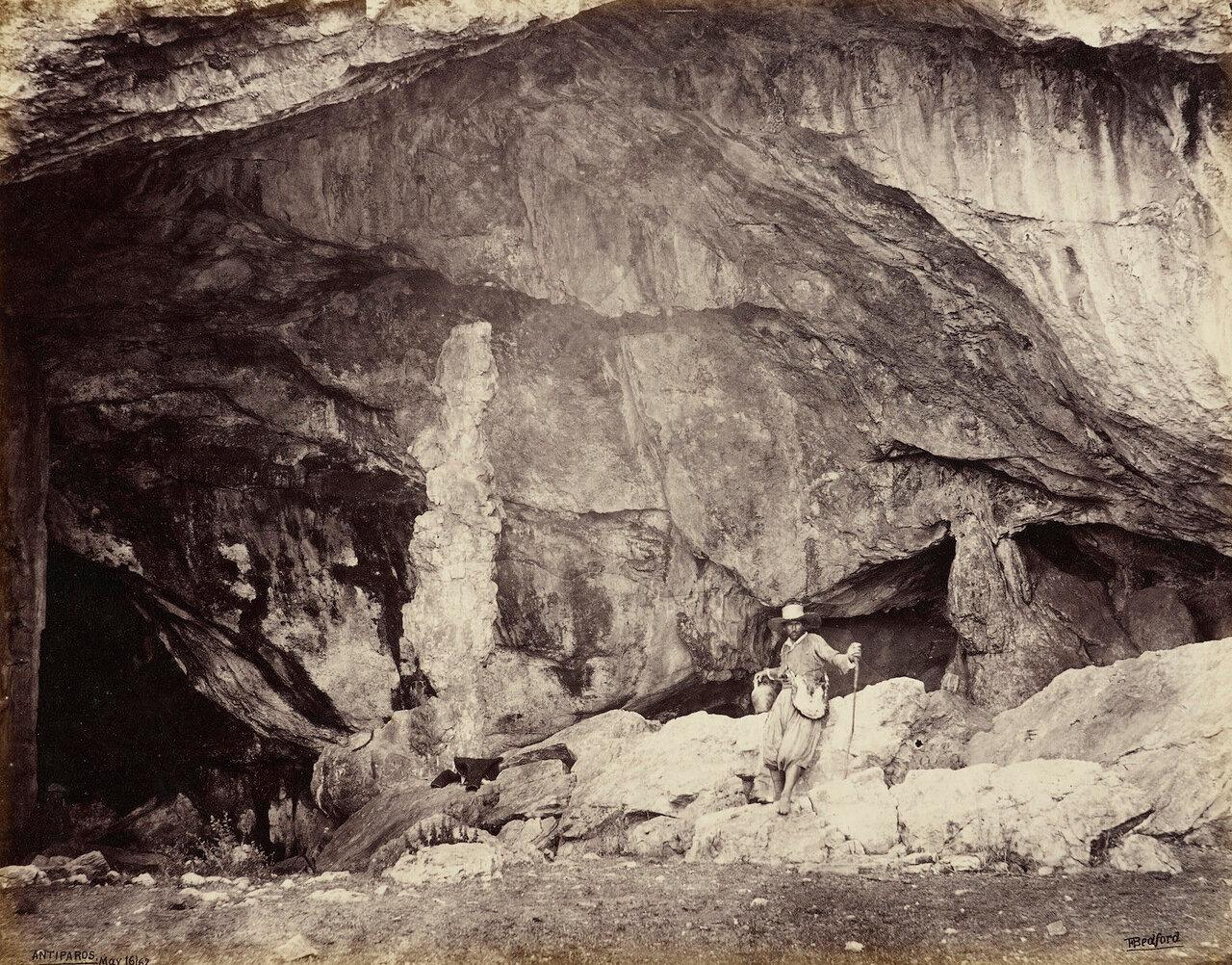 16 мая 1862. Вход в грот Антипарос