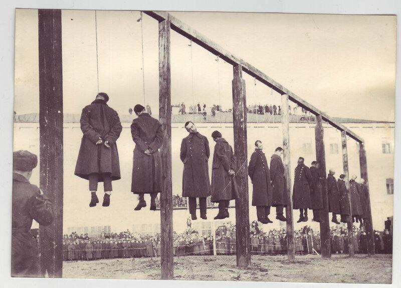 Казнь немецких военных преступников. Киев, 2 февраля 1946 г.
