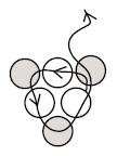 круговое мозаичное плетение
