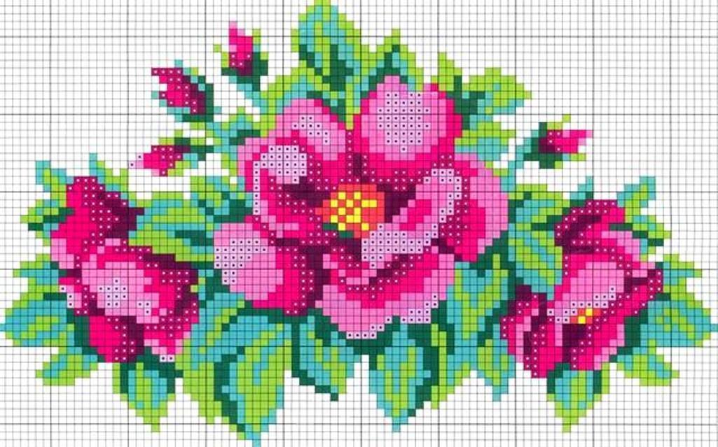 Схема вышивания бисером - Розы. схема подключение опс1.