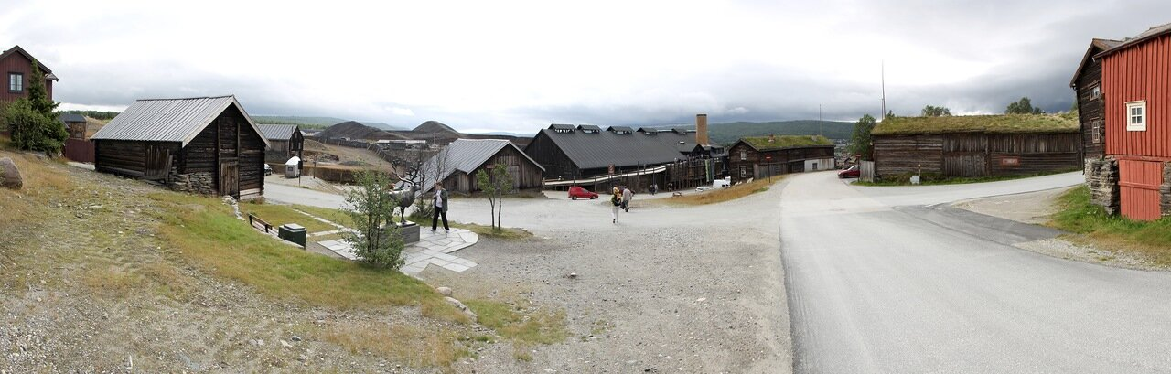 Рёрус, музей Горного  дела и металлургии, Røros, the Museum of cppper mining and metallurgical, panorama