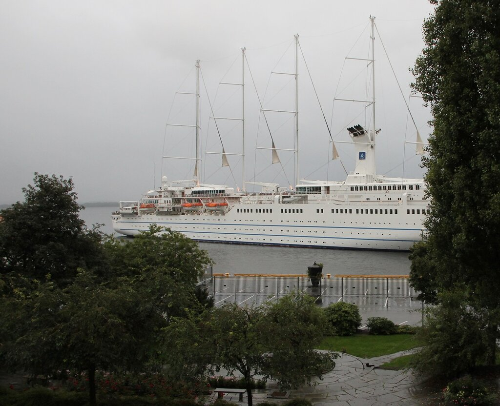 Club Med 2 Cruise ship in Molde, Norway