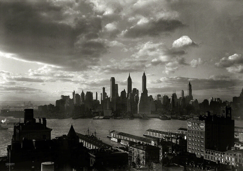 March 15, 1933. New York city views. Financial district from Hotel Bossert