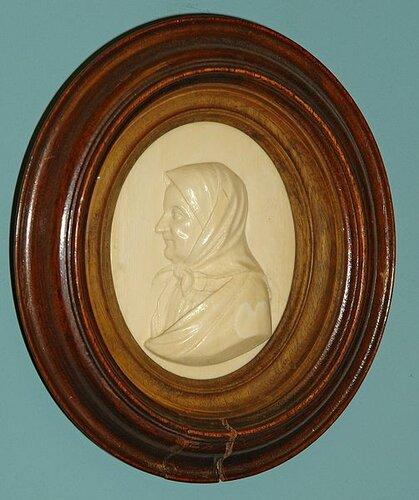 Я. П. Серяков. Арина Родионовна. Горельеф, 1840-е гг.