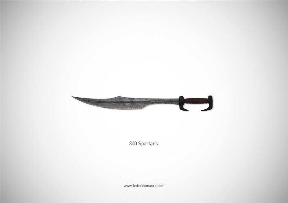 Знаменитые клинки, ножи и тесаки культовых персонажей / Famous Blades by Federico Mauro - 300