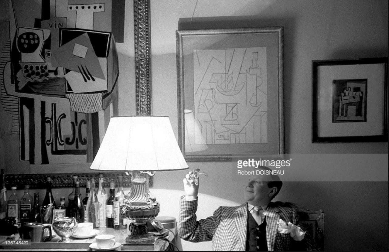 1954. Художник и историк Дуглас Купер в Аргилье