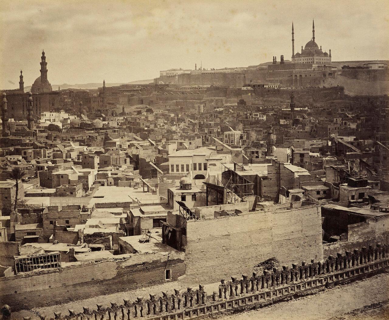 24 марта 1862. Цитадель Каира от мечети  Ибн Тулуна