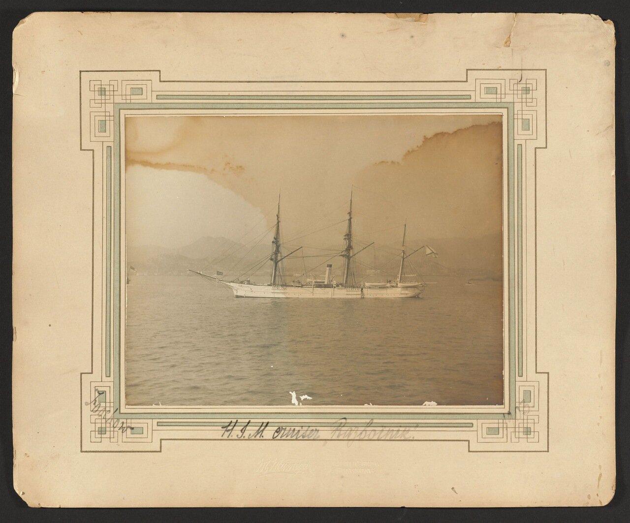 1903. Русский крейсер «Разбойник», на якоре у берегов города Фучжоу, Китай