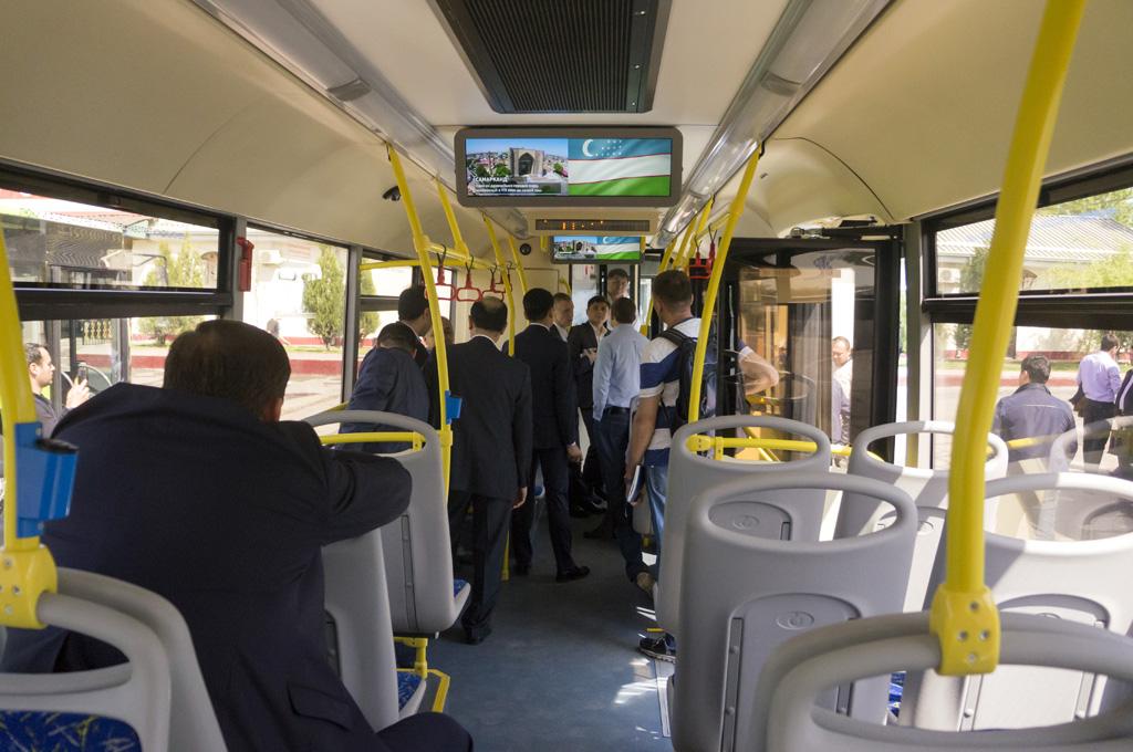 Презентация нового автобуса ЛиАЗ-5292.67 в Ташкенте