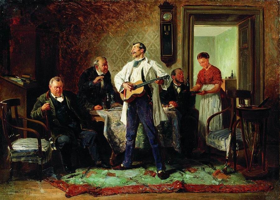 Друзья-приятели. 1878 Челябинский государственный музей изобразительных искусств.