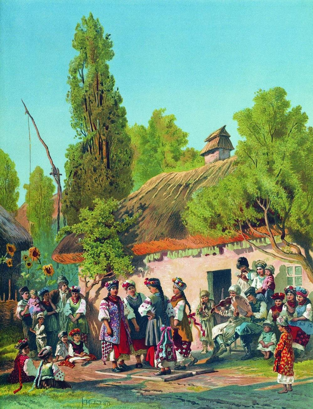 Воскресный вечер в малороссийской деревне. 1879.