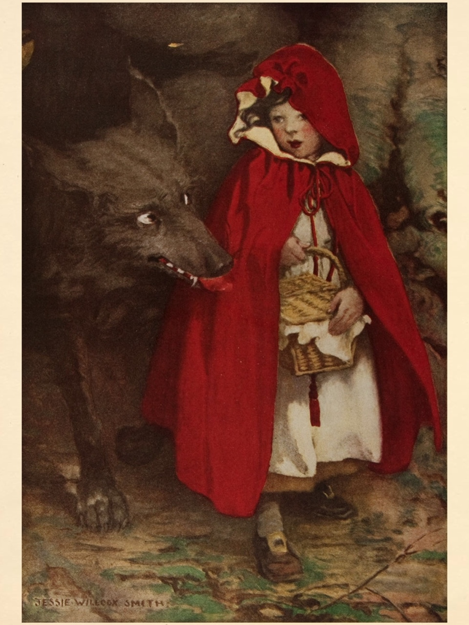 Red Riding Hood.1911. Art by Jessie Willcox Smith..jpg