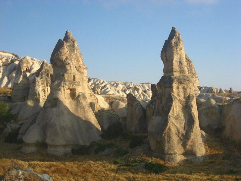 Каппадокия: Камины фей и Долина голубей в Гёреме - Смотровые площадки, Достопримечательности, Горы - turkey, cappadocia
