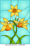 stock-vector-daffodils-spring-flower-love-symbol-of-wales-stained-glass-window-187662080.jpg