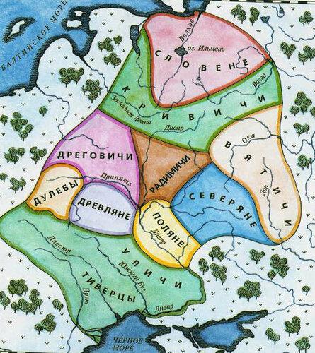 Дреговичи жили на берегах реки принять, получив свое имя от слов дрегва и дряговина, означающих болото