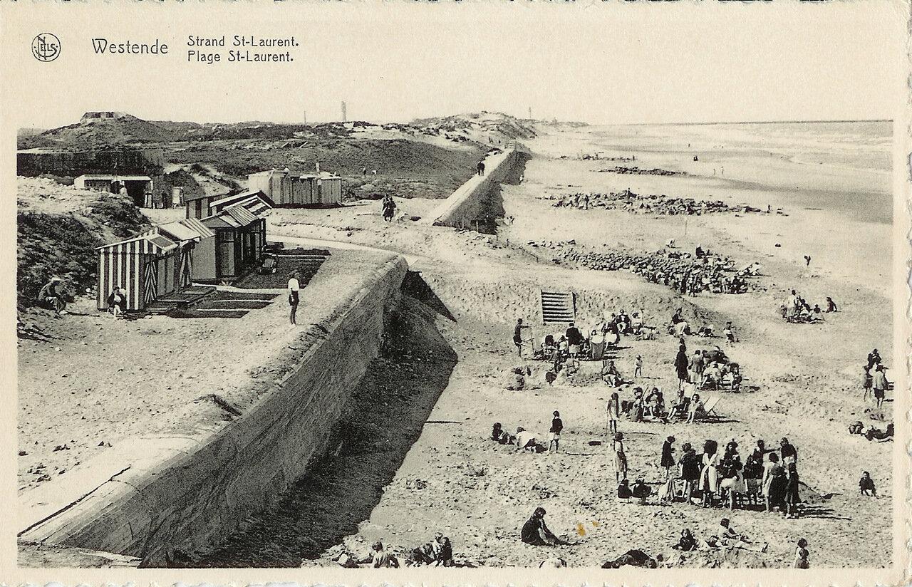 Пляж в Вестэнде. Первая половина ХХ века