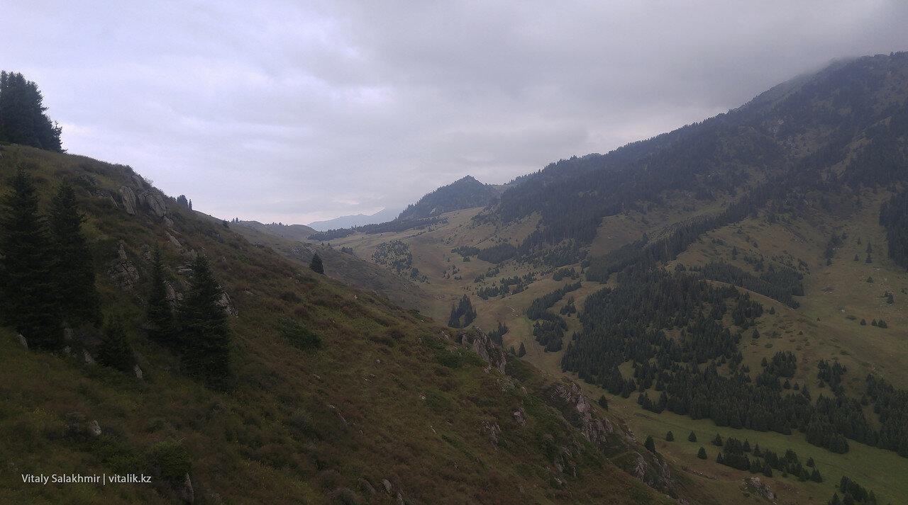 Вид на Кок-Жайляу со стороны.