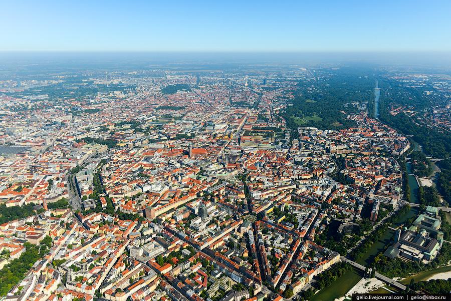 Мюнхен с высоты. Munich from above