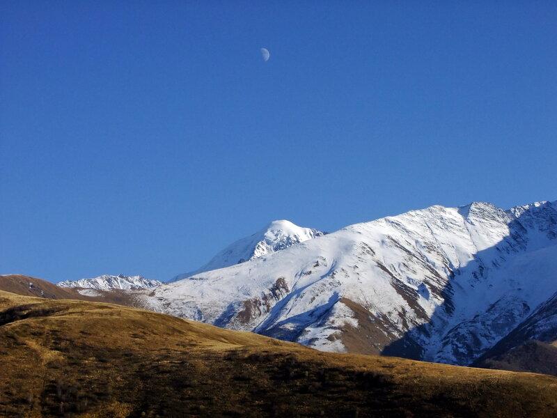 В горах уже снег