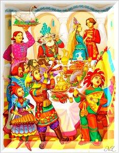 Сказки в иллюстрациях Виктора Служаева