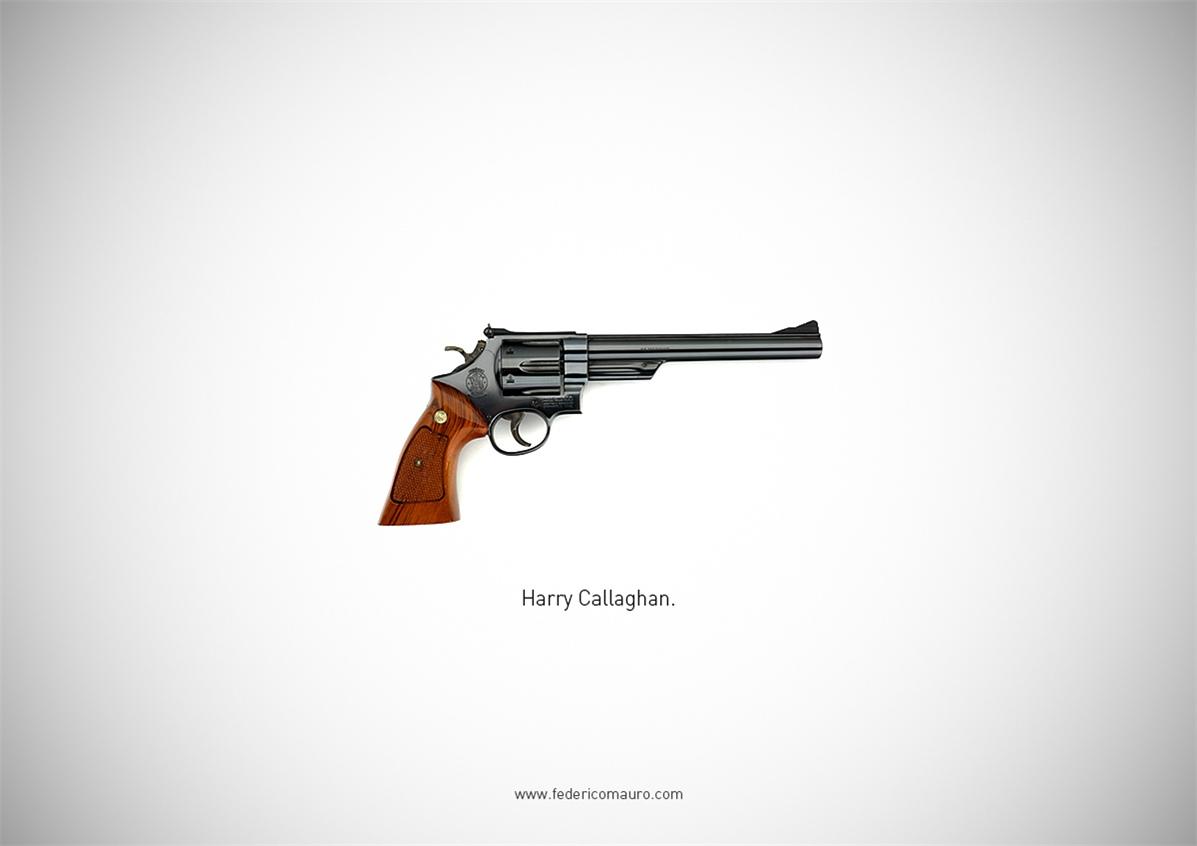 Знаменитые пушки - оружие культовых персонажей / Famous Guns by Federico Mauro - Harry Callaghan (Dirty Harry)
