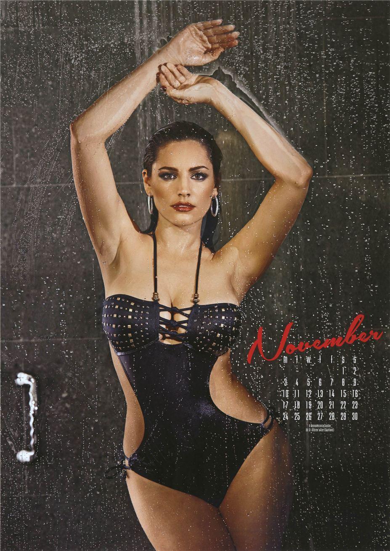 ноябрь - Календарь сексуальной красотки, актрисы и модели Келли Брук / Kelly Brook - official calendar 2014
