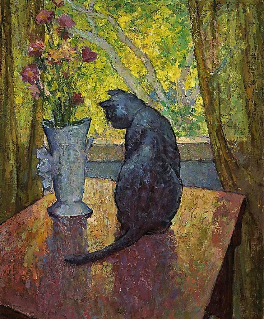 Кот и ваза. Миша Ашкенази (1888-1961);