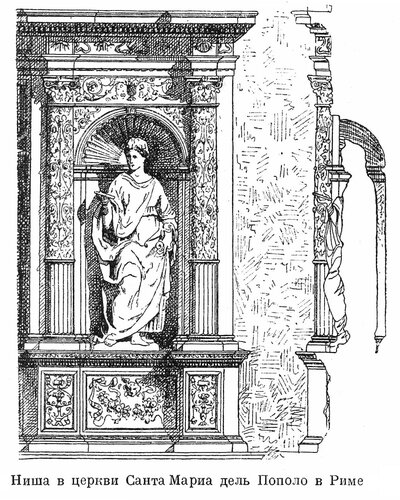 Ниша церкви Санта Мария дель Пополо в Риме