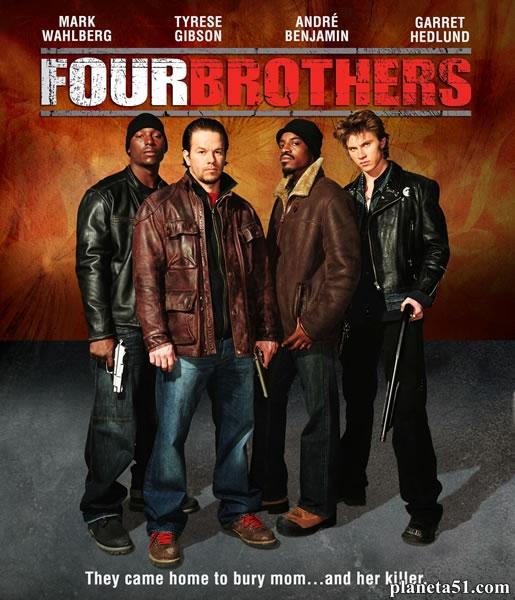 Кровь за кровь / Четыре брата / Four Brothers (2005/HDRip/BDRip)