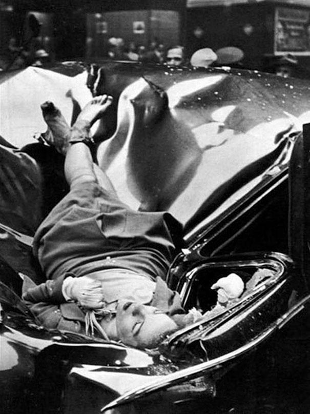 Самоубийство с шиком: 23-летняя Эвелин МакХэйл выпрыгнула с 83-го этажа Эмпайр-Стейт-Билдинг и приземлилась на лимузин одного из сотрудников ООН в 1947 году.