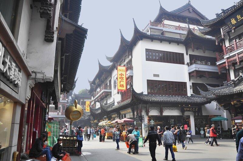 Прогулка по старому Шанхаю. Китай