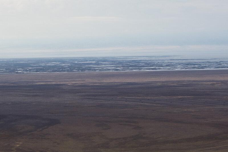 гора Караберик, болота в дельте Черного Иртыша