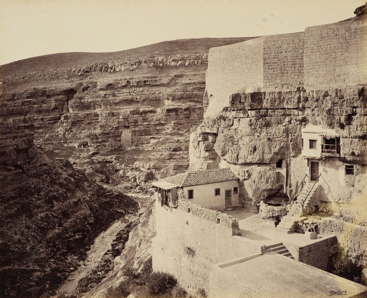4 апреля 1862. Вид с террасы монастыря Мар Саба