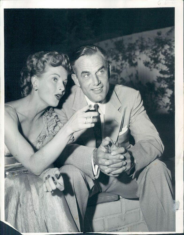 1953. Актриса Колин Грэй со своим вторым мужем Уильямом Бидлаком