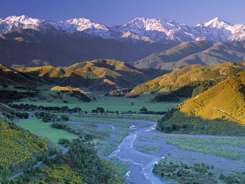 Удивительные пейзажи Южного острова Новой Зеландии